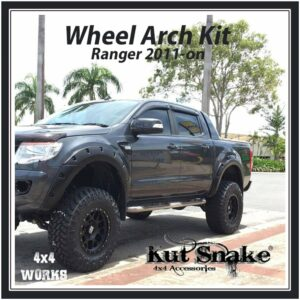 Kut Snake Wheel Arches Ford Ranger PX/PX2/PX3 2011-on Standard 58mm Fender Flares
