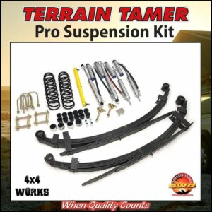 Terrain Tamer Suspension Pro Kit Toyota Land Cruiser 78 79 Series 1999-on