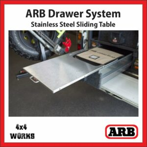 ARB Outback Drawer System Stainless Steel Roller Table RDTAB1045