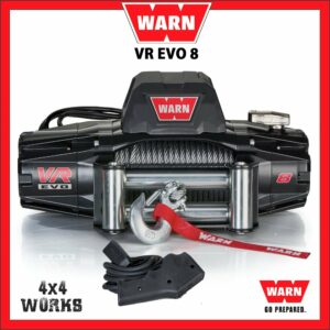 Warn VR Evo 8 8,000lb Electric Winch Kit with Steel Rope Fairlead Remote Control