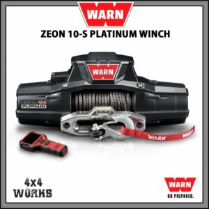 Warn Zeon Platinum 10S 10,000lb Electric Winch Kit with Synthetic Rope Fairlead Remote Control