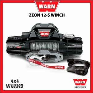 Warn Zeon 12S 12,000lb Electric Winch Kit with Synthetic Rope Fairlead Remote Control