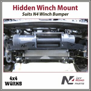 N4 Hidden Winch Mount Plate Toyota Land Cruiser 200 Series 2007-on