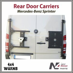 N4 Rear Door Spare Wheel Jerry Can Carrier Mercedes-Benz Sprinter 2006-18