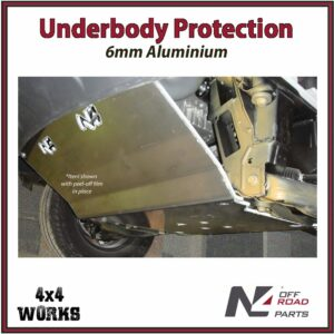 N4 Skid Plate Underbody Protection Volkswagen Crafter VW 2WD 2006-18 6mm Front Bash Guard