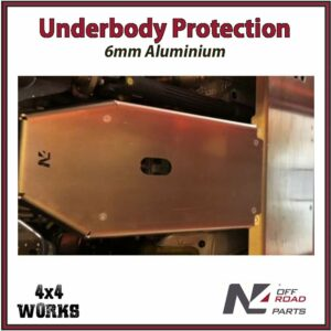 N4 Skid Plate Underbody Protection Jeep Wrangler JL 2018-on LWB Diesel Only Gearbox Bash Guard