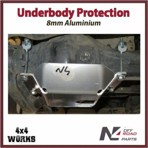 N4 Skid Plate Underbody Protection Toyota Land Cruiser 105 Series 1998-07 Differential Bash Guard
