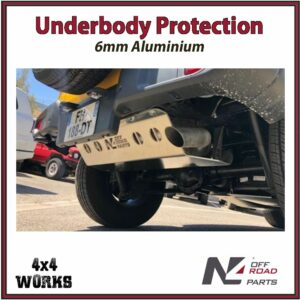 N4 Skid Plate Underbody Protection Jeep Wrangler JL 2018-on LWB Diesel Only Rear Exhaust - AdBlue Tank Bash Guard