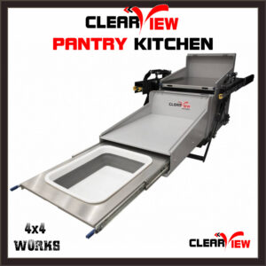 Clearview Folding Pantry Kitchen Slide for Camping and Overlanding