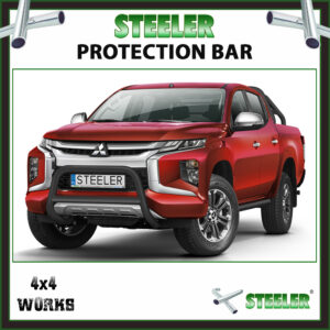 Steeler Black Steel A Bar Mitsubishi L200 2019-on Front Protection