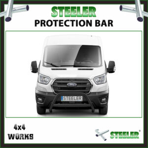 Steeler Black Steel A Bar Ford Transit 2019-on Front Protection