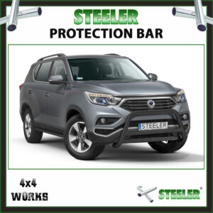 Steeler Black Steel A Bar SsangYong Rexton 2018-on Front Protection