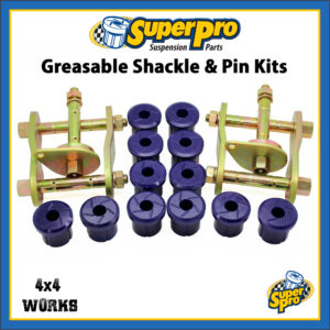SuperPro Greasable Shackle Pin and Bushing Kit Toyota Land Cruiser 2007-on