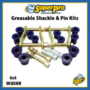 SuperPro Greasable Shackle Pin and Bushing Kit Toyota Hilux 2015-on