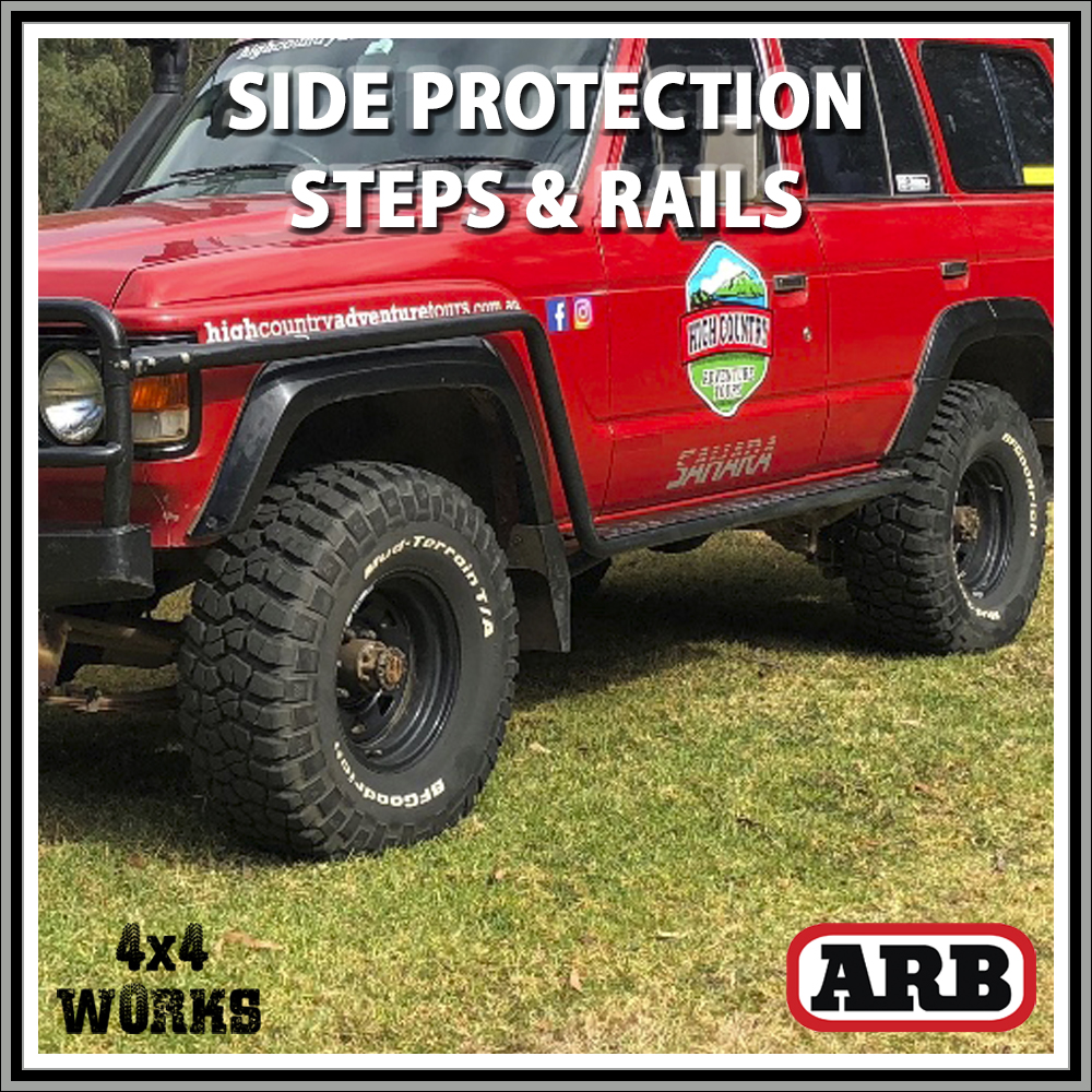 ARB Protection Side Steps and Rails Toyota Land Cruiser 60 Series 1980-90